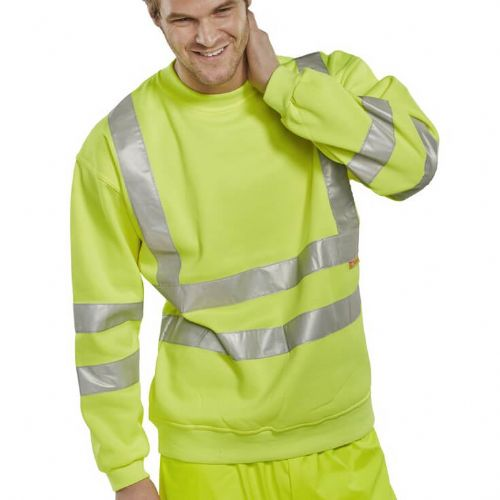 BSeen Hi Vis Yellow Sweatshirt